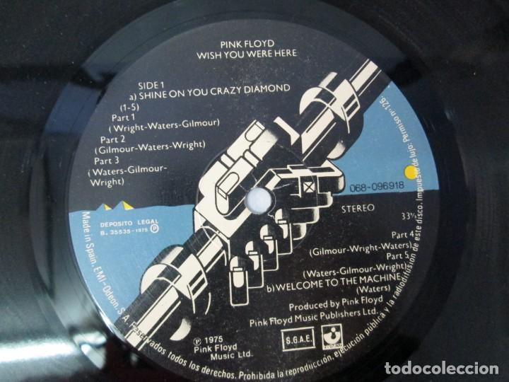 Discos de vinilo: PINK FLOYD. WISH YOU WERE HERE. LP VINILO. EMI ODEON. 1975. VER FOTOGRAFIAS ADJUNTAS - Foto 6 - 140491554