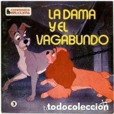 Discos de vinilo: WALT DISNEY - LA DAMA Y EL VAGABUNDO (CUENTODISCO BRUGUERA, 1969 - PRECINTADO. Lote 140499018