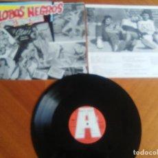 Discos de vinilo: LOBOS NEGROS- NERVIOS DE ACERO - MINI LP+ENCARTE. SPANISH ROCKABILLY. AÑO 1989.MLP 894 FM 14.. Lote 140509910