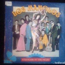 Discos de vinilo: LOS MANOLOS: STRANGERS IN THE NIGHT, SINGLE RCA 1A PB-44797. SPAIN, 1991. VG+/VG+. Lote 140511706