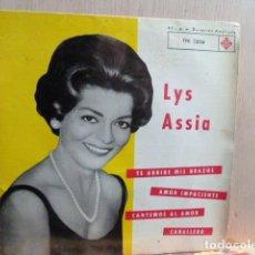 Discos de vinilo: LISS ASSIA -TE ABRIRE MIS BRAZOS-Y 3 MAS. Lote 140527550