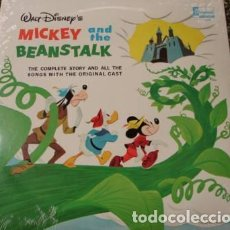 Discos de vinilo: WALT DISNEY PRESENTS THE STORY OF MICKEY & THE BEANSTALK - LP DISNEYLAND ?USA 1963. Lote 140542314