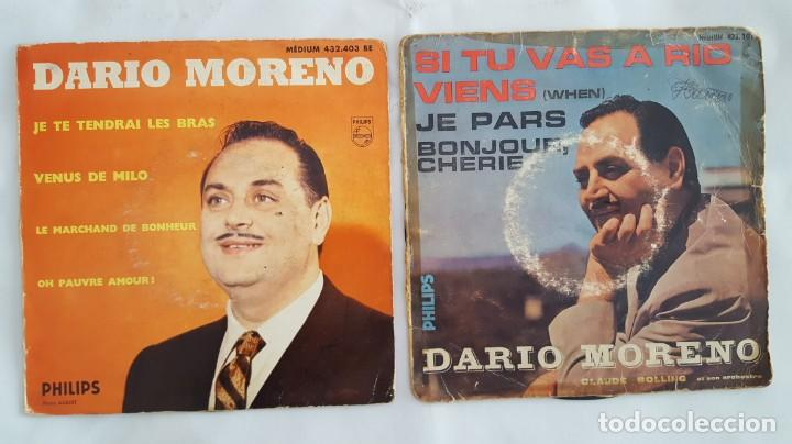 EP / DARIO MORENO / LOTE DE 2 EPS (Música - Discos de Vinilo - EPs - Canción Francesa e Italiana)