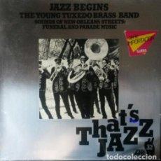 Discos de vinilo: THE YOUNG TUXEDO BRASS BAND.LP.. Lote 140554730