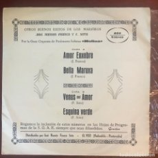 Discos de vinilo: GRAN ORQUESTA PROFESORES SOLISTAS BOA AUDIO VIDEO 1975. Lote 140560194