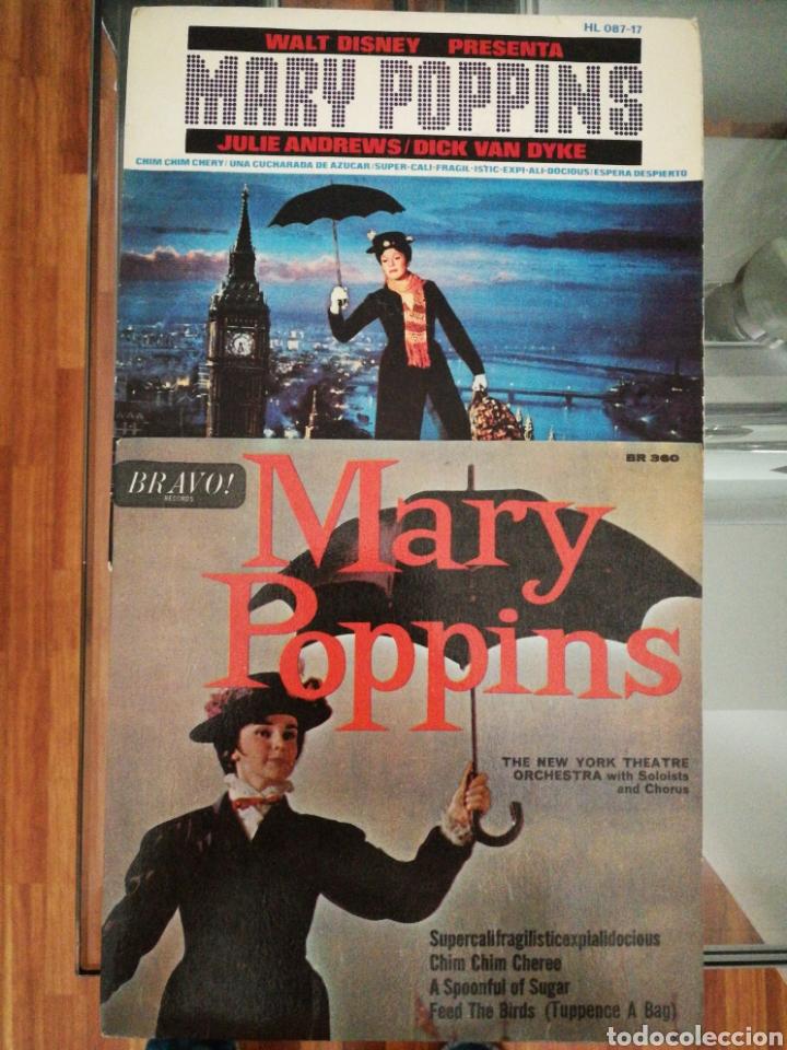 LOTE EP MARY POPPINS THE NEW YORK THEATER ORCHESTRA 1A ED INGLESA 1965 RARO+MARY POPPINS ED SPAIN (Música - Discos de Vinilo - EPs - Bandas Sonoras y Actores)