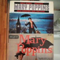 Discos de vinilo: LOTE EP MARY POPPINS THE NEW YORK THEATER ORCHESTRA 1A ED INGLESA 1965 RARO+MARY POPPINS ED SPAIN. Lote 140562766