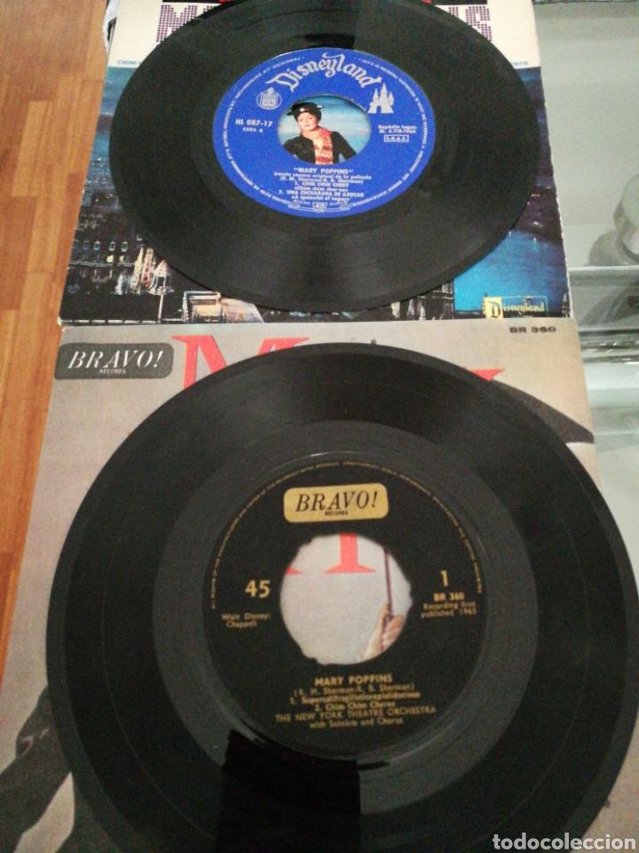 Discos de vinilo: Lote EP Mary Poppins the new York theater orchestra 1a Ed inglesa 1965 Raro+Mary Poppins ed spain - Foto 3 - 140562766