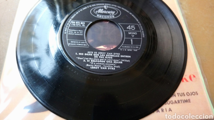 Discos de vinilo: Le Roy Van Dyke -Este Es. Ep spain 1962 - Foto 2 - 140565256