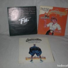 Disques de vinyle: LOTE 3 ALBUMES (5 LPS.) BSO AMERICAN GRAFFITI, F.M. AMERICATHON VER MAS INFORMACION. Lote 175017354