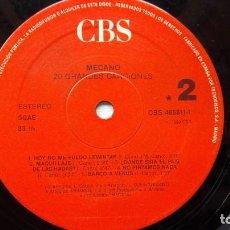 Disques de vinyle: DISCO DE MECANO-20 GRANDES CANCIONES-DOBLE LP.. Lote 140580042