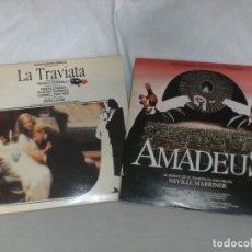 Dischi in vinile: LOTE 2 ALBUMES (4 LPS) BSO LA TRAVIATA - AMADEUS.- VER MAS INFORMACION. Lote 140595626