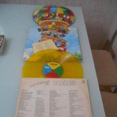 Discos de vinilo: LAS LOCURAS DE PARCHÍS LP 1982 VINILO COLOR AMARILLO CARPETA TROQUELADA. Lote 140598514