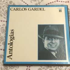 Discos de vinilo: ANTOLOGIAS CARLOS GARDEL 3 VINILO. Lote 140601326
