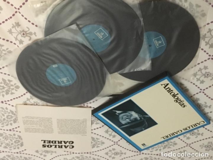 Discos de vinilo: ANTOLOGIAS CARLOS GARDEL 3 VINILO - Foto 2 - 140601326