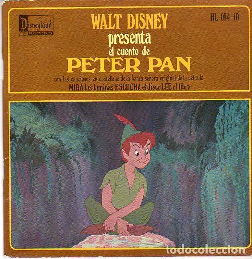 WALT DISNEY PRESENTA EL CUENTO DE PETER PAN - EP DISNEYLAND SPAIN 1968 (Música - Discos de Vinilo - EPs - Música Infantil)