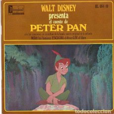Discos de vinilo: WALT DISNEY PRESENTA EL CUENTO DE PETER PAN - EP DISNEYLAND SPAIN 1968. Lote 202673022