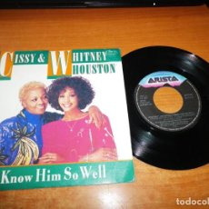 Discos de vinilo: WHITNEY HOUSTON I KNOW HIM SO WELL SINGLE VINILO 1988 ESPAÑA 2 TEMAS DUO CON SU MADRE CISSY HOUSTON. Lote 140618090