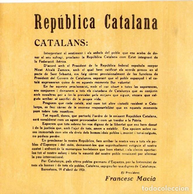 Discos de vinilo: REPUBLICA CATALANA *** FRANCESC MACIÁ - Foto 2 - 140626606