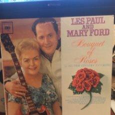 Discos de vinilo: LES PAUL AND MARY FORD-BOUQUET OF ROSES-1962-EDICION USA-MUY RARO. Lote 140628126