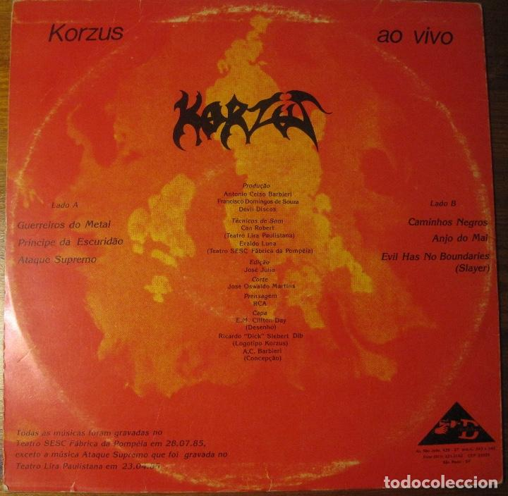 Korzus Ao Vivo Buy Vinyl Records Ep Other Music Styles At