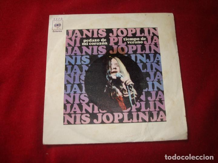 JANIS JOPLIN PEDAZO DE MI CORAZON PICE OF MU HEART Y TIEMPO DE VERANO 1970 CBS BEN SONIDO (Música - Discos - Singles Vinilo - Pop - Rock - Extranjero de los 70)