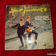 Discos de vinilo: DUO JUVENTS EP YO SOY UN ROCKER - NO EXISTE EL AMOR - BAILANDO TWIST - TWIST DEL ABUELITO . Lote 140644482