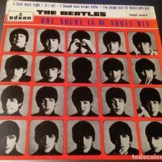 Discos de vinilo: THE BEATLES – QUE NOCHE LA DE AQUEL DIA 7''. Lote 140644926