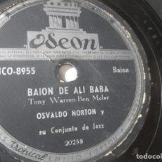 Discos de vinilo: OSVALDO NORTON BAJON DE ALI BABA PIANO ALEMAN COLOMBIA 78RPM K8 G RAREZA. Lote 140655478