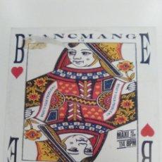 Discos de vinilo: BLANCMANGE WHAT'S YOUR PROBLEM ( 1985 LONDON RECORDS GERMANY ) . Lote 140656890