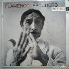Discos de vinilo: VICENTE ESCUDERO FLAMENCO! – FUNDA FIRMADA POR EL ARTISTA – FOTO: RICHARD AVEDON - CL 982. Lote 140662394