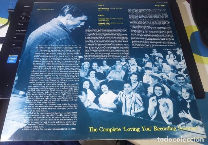 Discos de vinilo: ELVIS PRESLEY - LOVING YOU SESSIONS - LP LAUREL - Foto 3 - 140160834