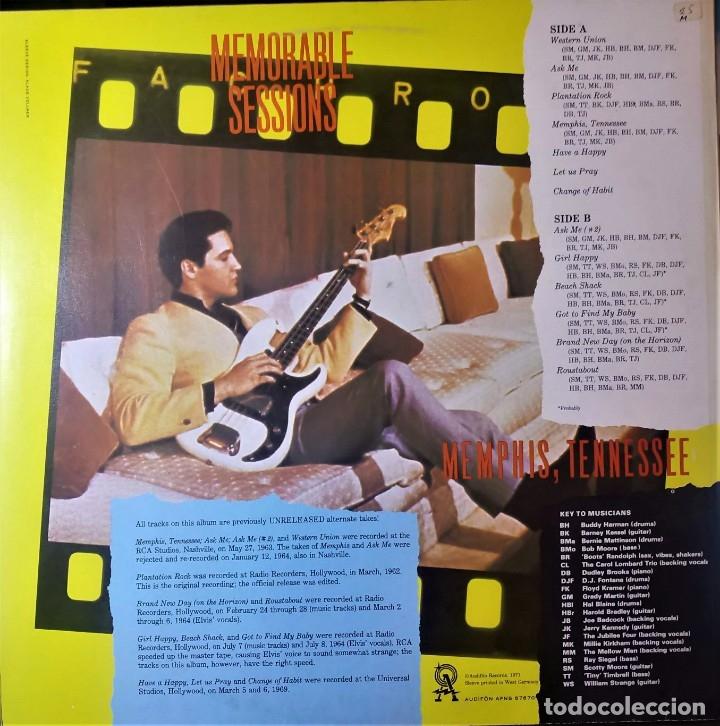 Discos de vinilo: ELVIS PRESLEY - MEMPHIS TENNESSEE - LP AUDIFON - Foto 2 - 140163722