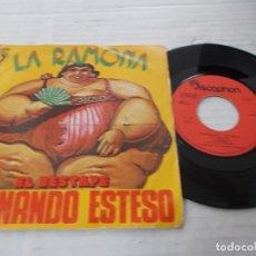 Discos de vinilo: FERNANDO ESTESO. LA RAMONA. EL DESTAPE,. Lote 140685002