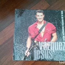 Discos de vinilo: JESUS VAZQUEZ-A DOS MILIMETROS ESCASOS DE TU BOCA.LP. Lote 140707882