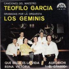Discos de vinilo: LOS GEMINIS - QUE BELLA ES LA VIDA - EP PROMOCIONAL DE VINILO DE 1974 - DISCOS BERTA. Lote 140711602