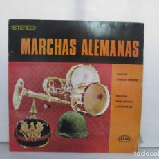 Discos de vinilo: MARCHAS ALEMANAS. BANDA DEL ESTADO DE HAMBURGO. LP VINILO. DIM RECORD. 1967. VER FOTOGRAFIAS. Lote 140720502