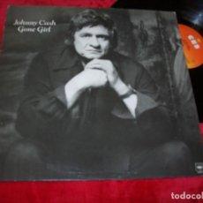 Discos de vinilo: JOHNNY CASH - GONE GIRL ...LP DE CBS - 1978 - RARA EDICION HOLLAND - UNICO. Lote 140725618