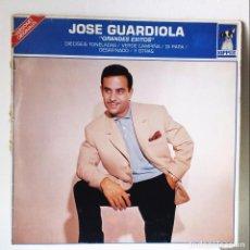 Discos de vinilo: JOSÉ GUARDIOLA *** GRANDES EXITOS VERSIONES ORIGINALES *** LP AÑO 1985. Lote 140732074