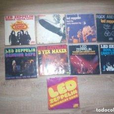 Discos de vinilo: LED ZEPPELIN / LOTE 9 SINGLE 45 RPM / FRANCE FRANCIA. Lote 140755650