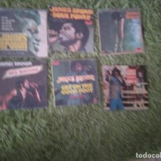 Discos de vinilo: JAMES BROWN / LOTE 7 SINGLES / EDITADOS ESPAÑA SPAIN SPANISH. Lote 140755922