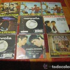 Discos de vinilo: JUAN & JUNIOR /LOTE 9 SINGLE 45 RPM// EDITADOS POR NOVOLA / 3 PROMOS. Lote 140757014