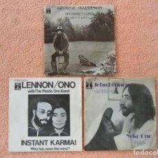 Discos de vinilo: ANTIGUOS SINGLES VINILO JOHN LENNON-GEORGE HARRISON 1970-1971.EMI-ODEON.ESPAÑA.. Lote 140762466