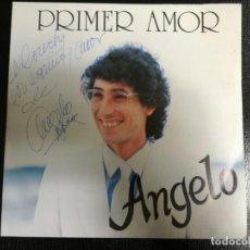Discos de vinilo: ANGELO. PRIMER AMOR.FRANKIE.SINGLE FIRMADO POR ANGELO.. Lote 140764818