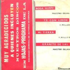 Discos de vinilo: JOSE RUBIO Y CONJUNTO / BODA HIPPY / TE CON LIMON + 2 (EP PROMO1968). Lote 140766446