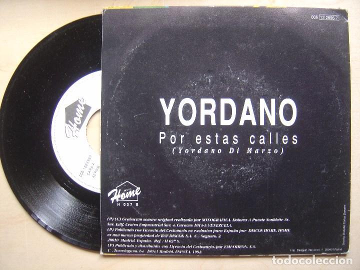 Discos de vinilo: YORDANO DI MARZO por estas calles - SINGLE PROMOCIONAL 1992 - HOME - Foto 2 - 140777126