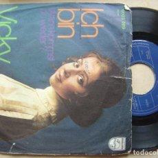 Discos de vinilo: VICKY LEANDROS - ICH BIN - SINGLE ALEMAN - PHILIPS. Lote 140785474