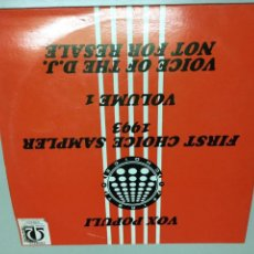 Discos de vinilo: FIRST CHOICE SA PERO 1993 . VOLUMEN 1 . REF 189 . Lote 140580122