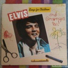 Discos de vinilo: ELVIS PRESLEY (ELVIS SINGS FOR CHILDREN AND GROWNUPS TOO!) RCA VICTOR LP 1978. Lote 140806258