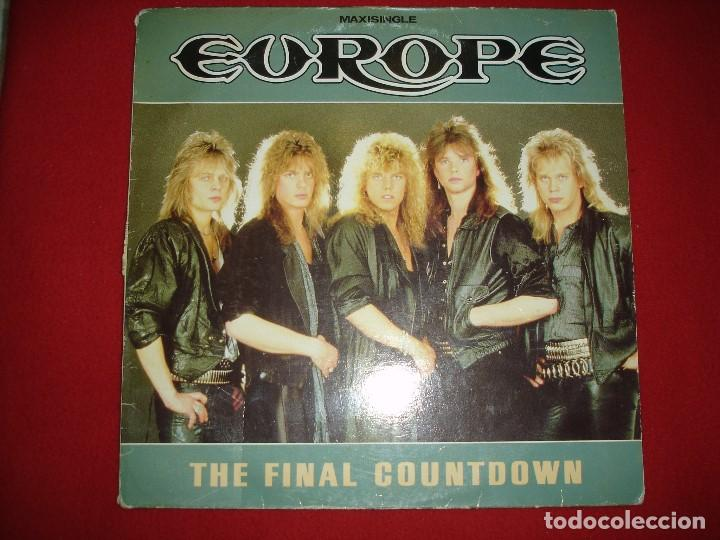 EUROPE, THE FINAL COUNTDOWN (MAXI SINGLE), ED. ESPAÑA, 1986 (Música - Discos de Vinilo - Maxi Singles - Heavy - Metal)